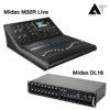 MIDAS M32R LIVE & MIDAS STAGE BOX DL16