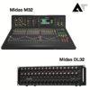 MIDAS M32 LIVE & MIDAS STAGE BOX DL32